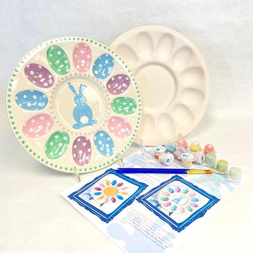 Ceramic Deviled Egg Plate Kit
