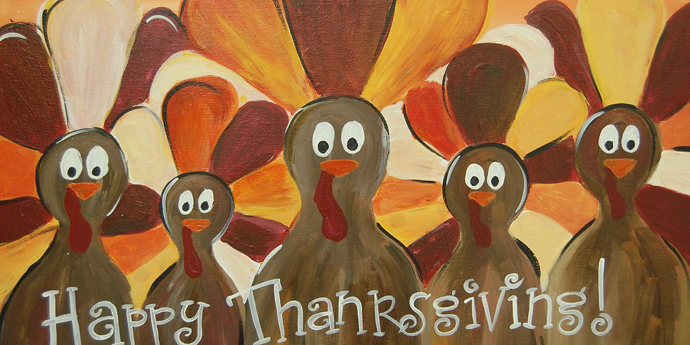 Family Thanksgiving Canvas Painting pARTy