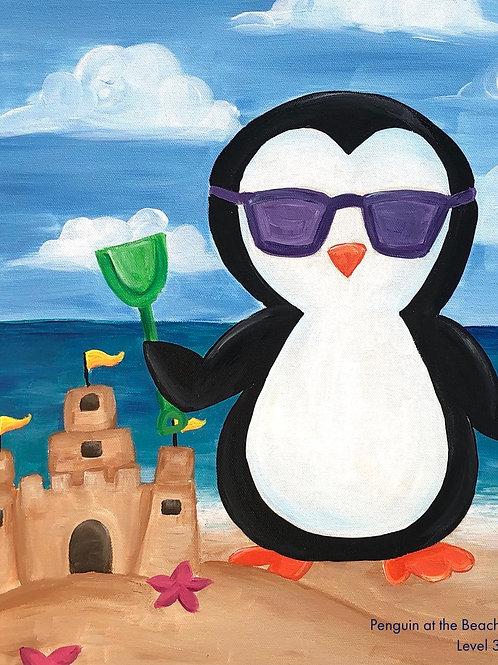 Summertime Penguin Canvas