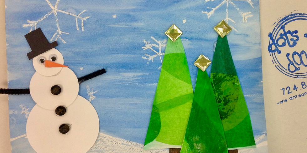 Dots and Tots: Winter Landscape Project
