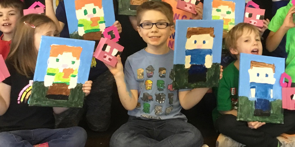 Youth Minecraft Canvas and Box Night