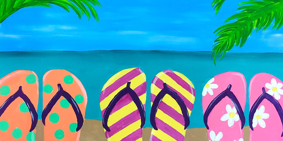 Youth Flip Flop Canvas Painting pARTy