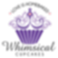 Lilac and Purple Whimsical Cupcake logo design Cape Town
