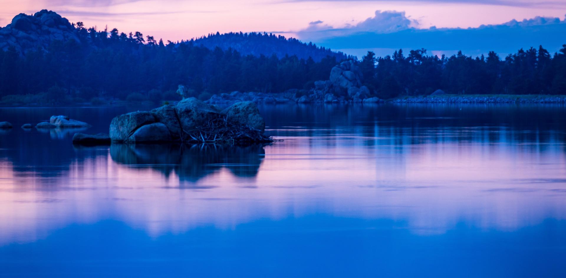 Purple And Blue Lake