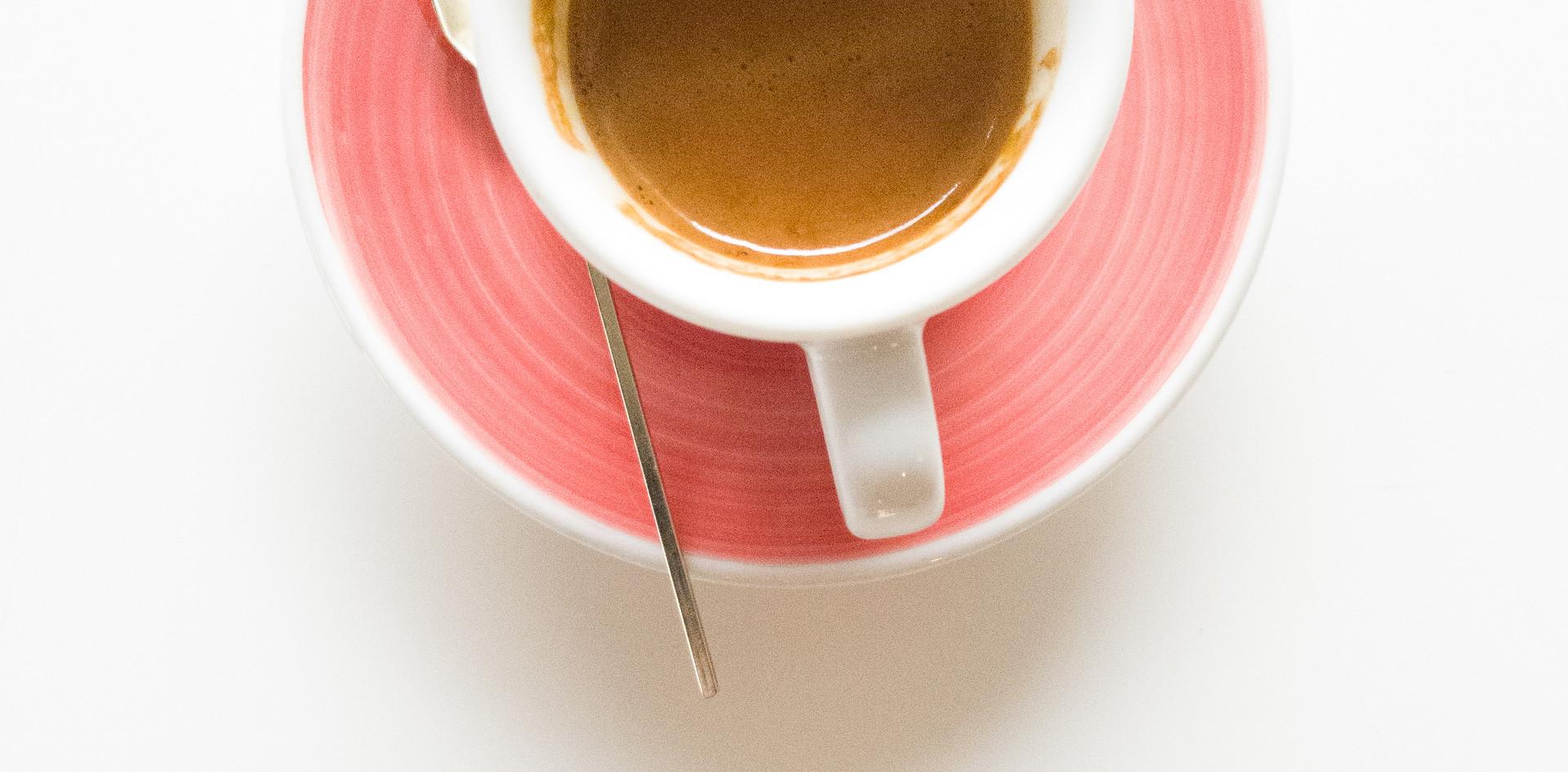 Espresso and White