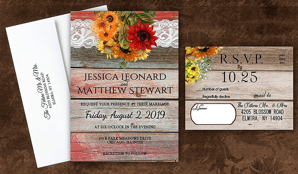 fall wedding invites