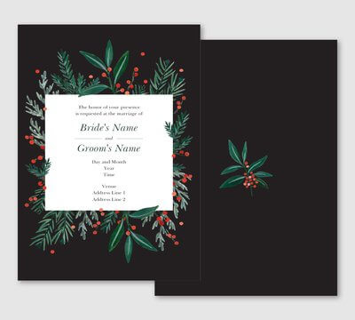 christmas wedding invites