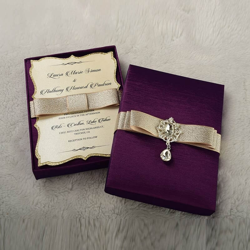 boxed wedding invites