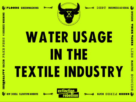 water usage In the textile industry