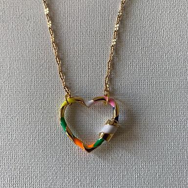 Carabiner rainbow heart