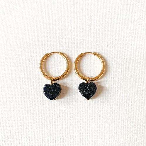 Heart Blue Goldstone Golden S