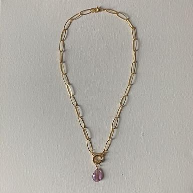 Fluorite chain necklace