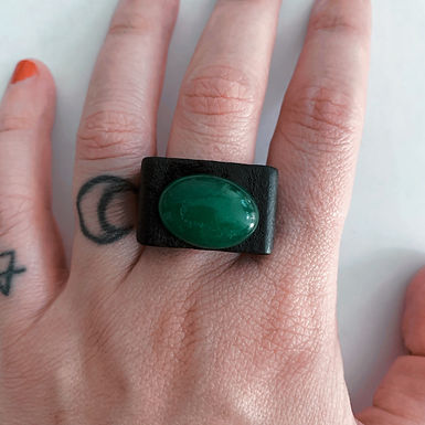 Jade with wood ring