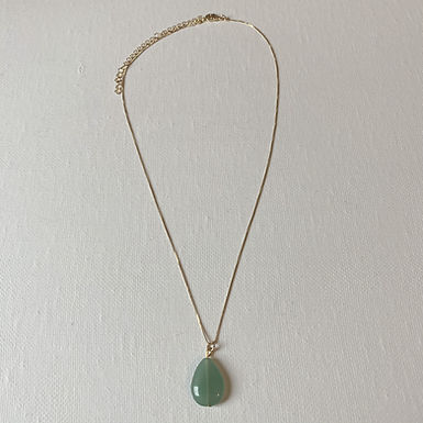 Gold Plated Green Aventurine