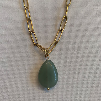 Green Aventurine chain necklace