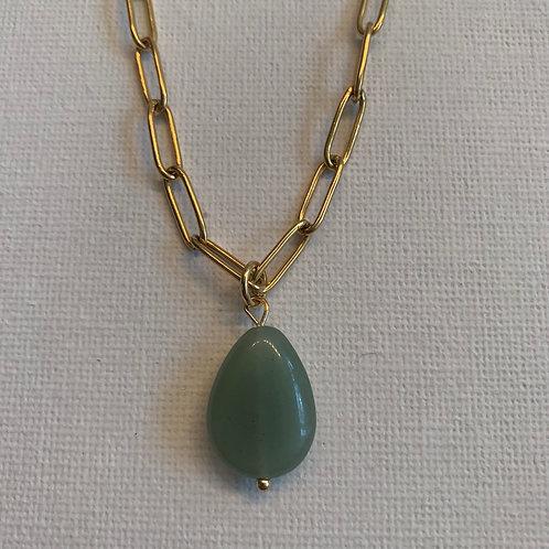 Green Aventurine chain necklace