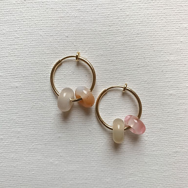 Clip on Quartz Earring