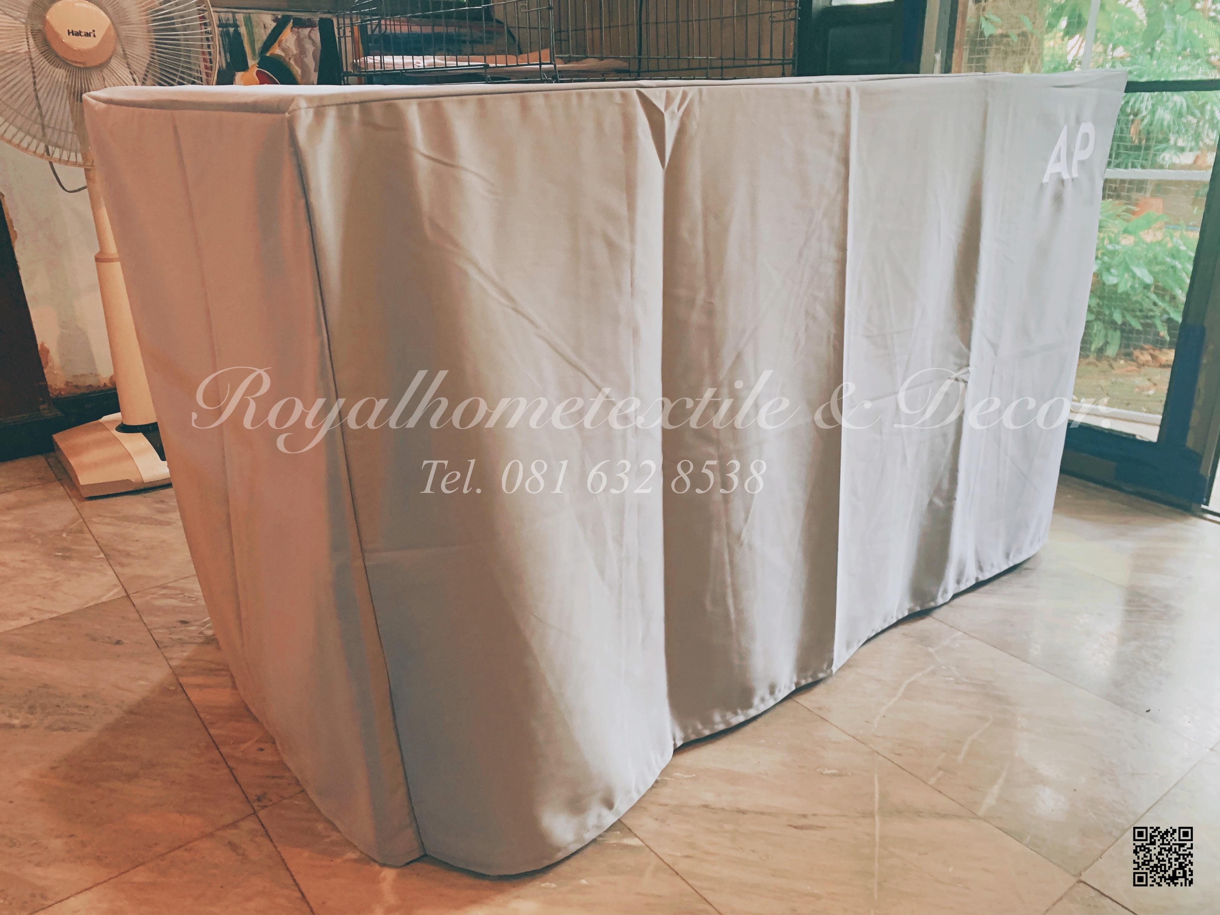 ผ้าปูโต๊ะ/ผ้าคลุมโต๊ะ เข้ารูป สกรีนโ