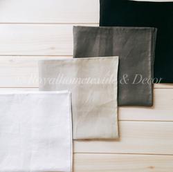 ผ้าเช็ดปาก/ผ้าแนพกิ้น/Napkins ผ้าลินิน/Linen