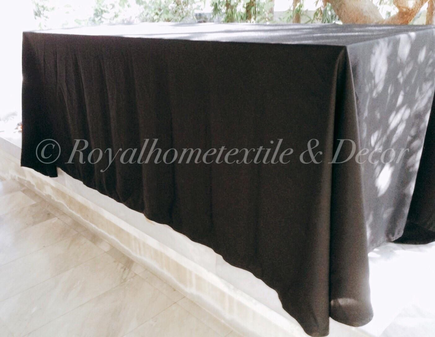 ผ้าปูโต๊ะ/ผ้าคลุมโต๊ะ ทวิสมุม สกรีนโลโก้