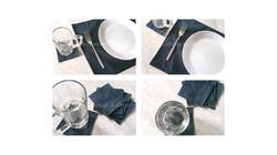 ชุดผ้ารองจานและผ้ารองแก้ว