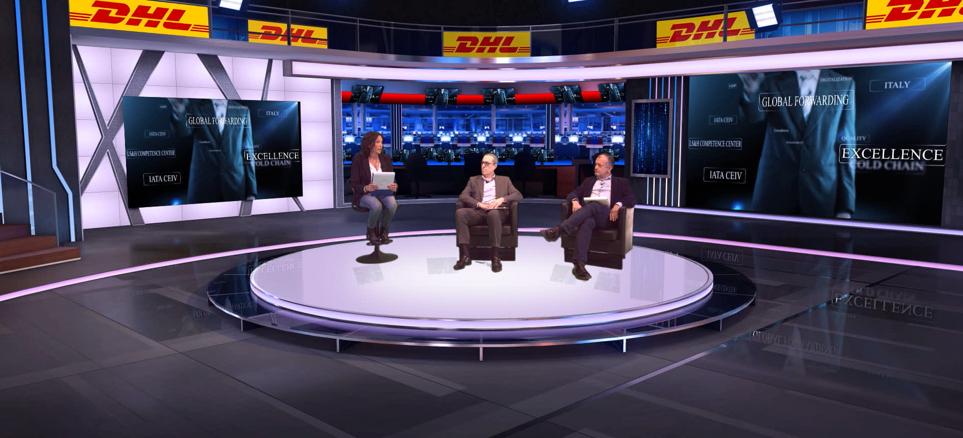 Naumachia & DHL: Evento Life Science and Healthcare in Virtual Studio