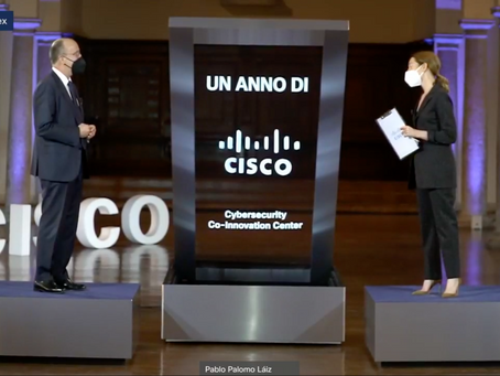 Naumachia protagonist at the anniversary of the Cisco Cybersecurity Co-Innovation Center