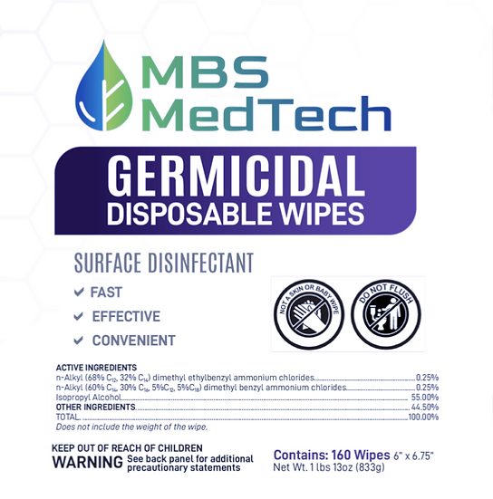 MBS MedTech Germicidal Wipes