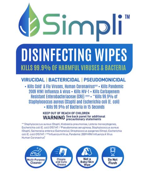 Simpli Disinfectant Wipes
