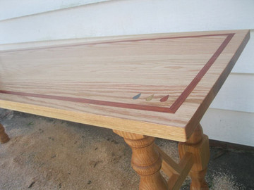 Inlayed Table with Custom Logo