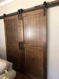 Walnut Stained Barn Doors