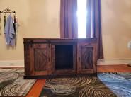 Cabinet with Barn Door