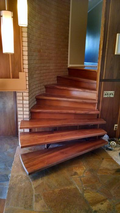Mahogoney Stairs