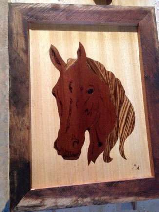 Horse Marquetry
