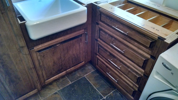 Built in Cabinets in Laundry Room