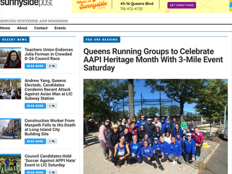 Sunnyside Post: Queens Running Groups to Celebrate AAPI Heritage Month With 3-Mile Event Saturday