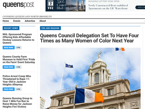 Queens Post: Queens Council Delegation Set to Have Four Times as Many Women of Color Next Year