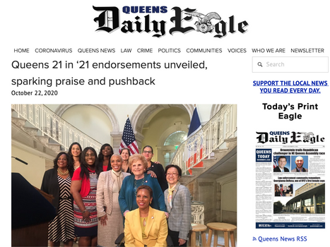 Queens daily eagle: Queens 21 in '21 endorsements unveiled, sparking praise and pushback
