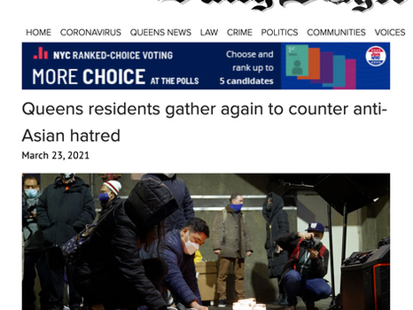 Queens Daily eagle: Queens residents gather again to counter anti-Asian hatred
