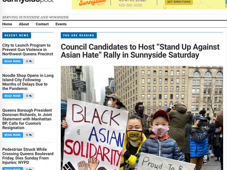 """SUNNYSIDE POST: Council candidates to host, """"stand up against asian hate"""" rally in sunnyside"""