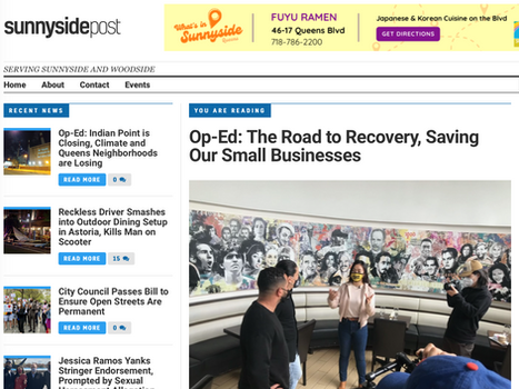 SUNNYSIDE POST: Op-ED: The Road to recovery, saving our small businesses
