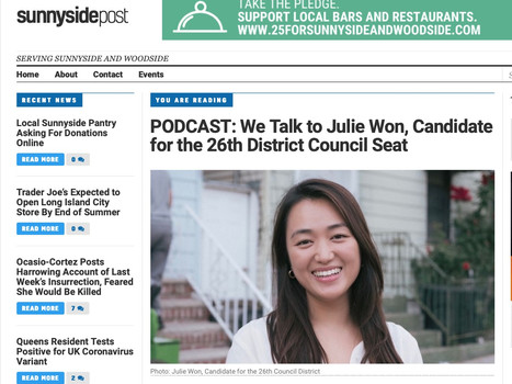 Sunnyside post podcast: talk to Julie Won candidate for d26
