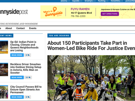 SUNNYSIDE POST: About 150 participants take part in women-led bike ride for justice event