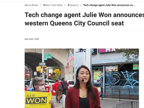 News break: Tech change agent Julie Won announces candidacy for western Queens City Council seat