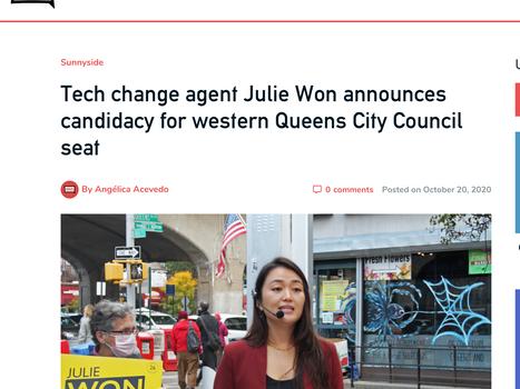 QNS: Tech change agent Julie Won announces candidacy for western Queens City Council seat