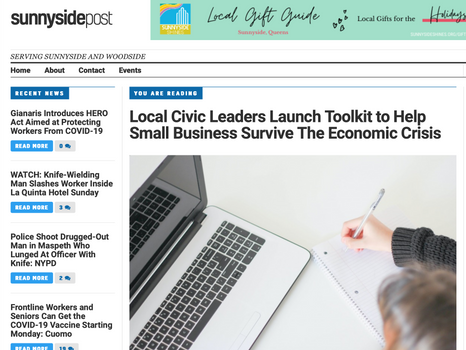 Sunnyside post: Local civic leaders launch tool kit to help small businesses survive