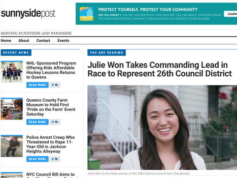 Sunnyside Post: Julie Won Takes Commanding Lead in Race to Represent 26th Council District