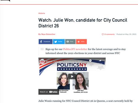 QNS: Watch: Julie Won, candidate for City Council District 26