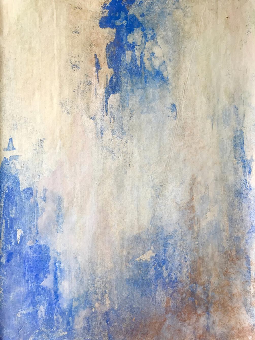 Cobalt blue distressed effect