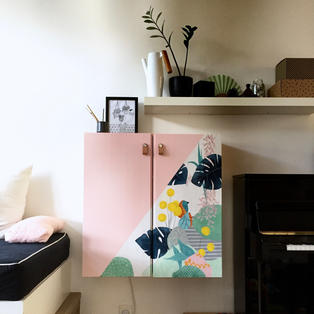 Painting on IVAR ikea cabinet